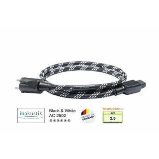inakustik Black & White Referenz AC-2502 Netzkabel - 1,50 m