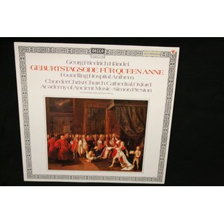 Handel* - Choir Of Christ Church Cathedral, Oxford*, The Academy Of Ancient Music - Ode For The Birthday Of Queen Anne / Anthem For The Foundling Hospital