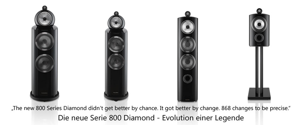 B&W Serie 800 Diamond - the legend just got e