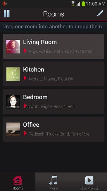 HEOS App - Raumauswahl